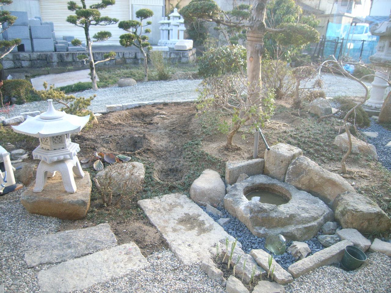 限られた空間で機能性も重視した日本庭園 BEFORE