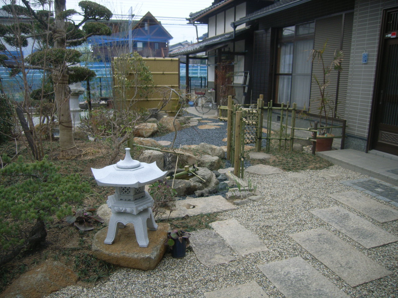 限られた空間で機能性も重視した日本庭園 AFTER