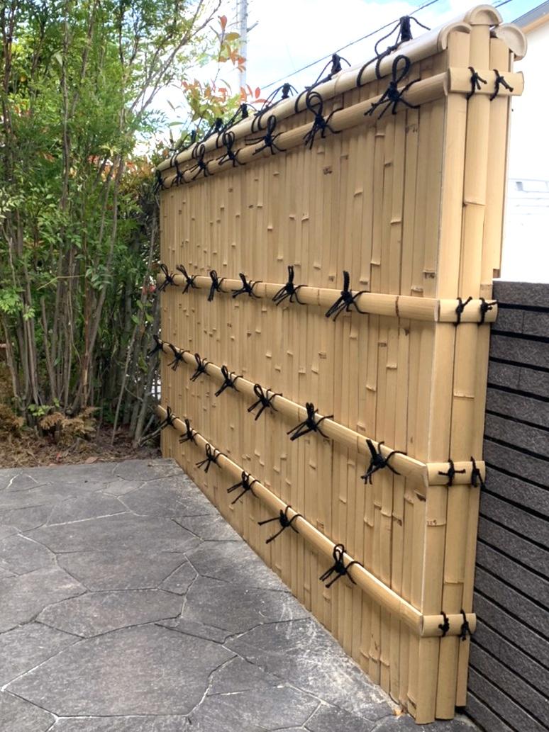 竹工事 竹垣のやりかえ AFTER