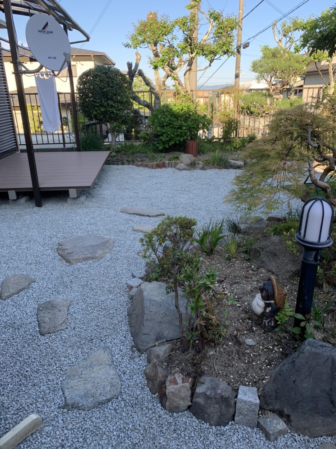 お庭の模様替え AFTER